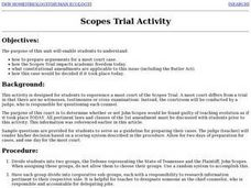 Scopes Trial Activity Lesson Plan
