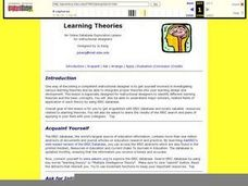 Learning Theories Lesson Plan
