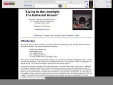 """Living in the Limelight The Universal Dream"" Lesson Plan"