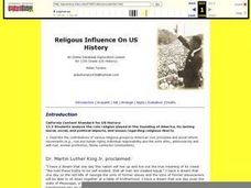 Religious Influence On US History Lesson Plan