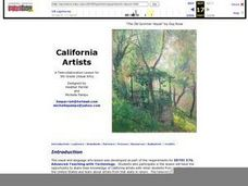 California Artists Lesson Plan