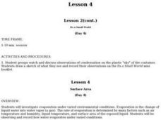 Lesson 4 Lesson 2(cont.) Its a Small World (Day 4) Lesson Plan