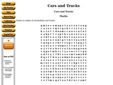 Cars and Trucks Worksheet
