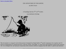 THE ADVENTURES OF TOM SAWYER by Mark Twain Lesson Plan
