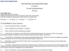 New York State Government Lesson Plan