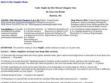 Night by Elie Wiesel Chapter One Lesson Plan