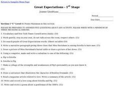 Great Expectations - 1st Stage Lesson Plan