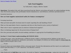 Safe Food Supplies Lesson Plan