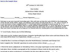 20th Century II: 1945-1950 Lesson Plan
