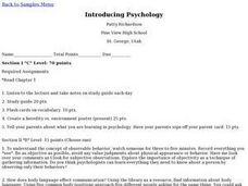 Introducing Psychology Lesson Plan