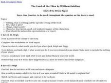The Lord of the Flies by William Golding Lesson Plan