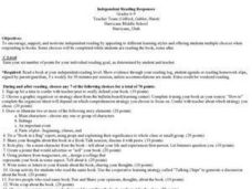 Independent Reading Responses Lesson Plan