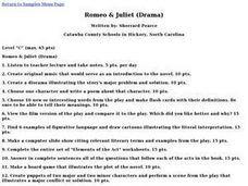 Romeo & Juliet (Drama) Lesson Plan