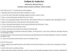 Oedipus by Sophocles Lesson Plan