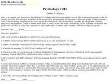 Psychology 1010 Lesson Plan