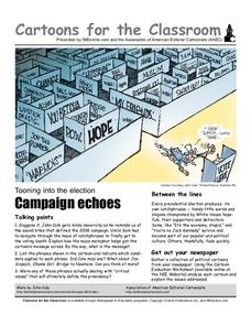 Cartoons for the Classroom: Campaign Echoes Worksheet