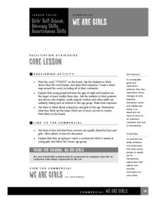 We are girls Lesson Plan