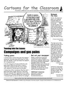 Cartoons for the Classroom: Campaigns and Gas Pains Worksheet