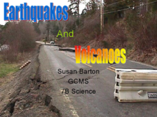 Earthquakes And Volcanoes Lesson Plan