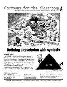 Cartoons for the Classroom: Defining a Revolution with Symbols Worksheet