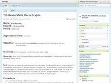 7th Grade Math Circle Graphs Lesson Plan