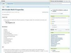 8th Grade Math Properties Lesson Plan
