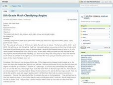 8th Grade Math Classifying Angles Lesson Plan