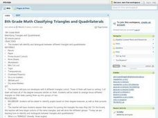 8th Grade Math Classifying Triangles and Quadrilaterals Lesson Plan