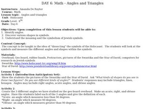 Angles And Triangles Lesson Plan