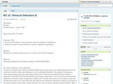Natural Selection II Lesson Plan