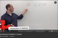 Introduction to Radicals Video