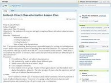 Indirect-Direct Characterization Lesson Plan Lesson Plan