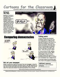 Cartoons for the Classroom: Comparing Democracies Worksheet
