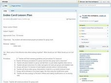 Index Card Lesson Plan Lesson Plan