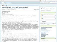 Military Tactics and Battle Plans Oh Boy! Lesson Plan