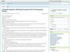 The Five Paragraph Essay Lesson Plan