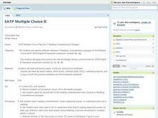 SATP Multiple Choice II Lesson Plan