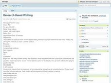 Research-based Writing Lesson Plan