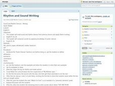 Language Arts: Creative Writing Devices Lesson Plan