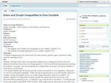 Graphing Inequalities in Equations Lesson Plan