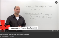 Definition of One-to-One Functions Video