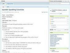 Spanish-Speaking Countries Lesson Plan