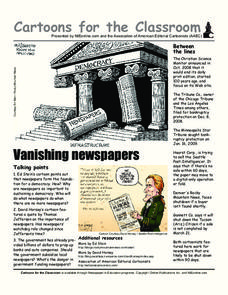 Cartoons for the Classroom: Vanishing Newspapers Worksheet