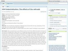 USH Industrialization: The effects of the railroads Lesson Plan
