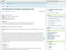 USH World War II Battles and Domestic US Lesson Plan