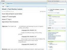 Reviewing Language Lesson Plan