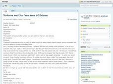 Volume And Surface Area Of Prisms Lesson Plan