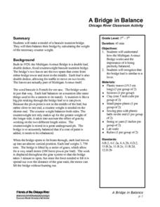 A Bridge in Balance Lesson Plan