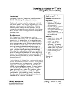 Getting a Sense of Time Lesson Plan