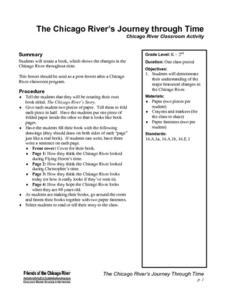 The Chicago River's Journey through Time Lesson Plan